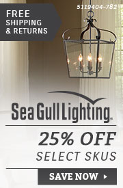 Sea Gull Lighting | 25% Off Select SKUs