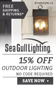 Sea Gull Lighting | 15% OFF Outdoor Lighting