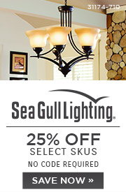 Sea Gull Lighting | 25% Off Select SKUs | No Code Required