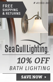 Sea Gull Lighting | 10% Off Bath Lighting