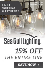 Sea Gull Lighting | 15% Off Entire Line