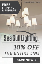 Sea Gull Lighting | 10% Off the Entire Line