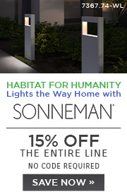 Habitat for Humanity | Sonneman 15% Off the Entire Line | No Code Required | Save Now