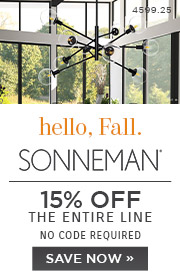 Hello Fall | Sonneman | 15% Off the Entire Line | No Code Required | Save Now