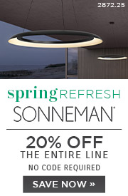 Spring Refresh | Sonneman Lighting | 20% Off the Entire Line | No Code Required | Save Now