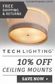 Tech Lighting | 15% Off Ceiling Mounts