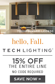 Hello Fall | Tech Lighting | 15% Off the Entire Line | No Code Required | Save Now