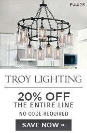 Troy Lighting | 20% OFF The Entire Line | no code required | Save Now