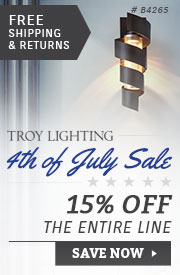 Troy Lighting | 4th of July Sale | 15% Off the Entire Line