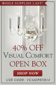 Save 40% on VISUAL COMFORT Open Box Items, While Supplies Last!