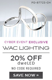 Cyber Event Exclusive | WAC Lighting | 20% OFF dweLED | no code required | Save Now
