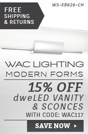 WAC Lighting | 15% Off dweLED Vanity & Sconces