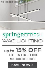 Spring Refresh | WAC Lighting | up to 15% Off the Entire Line | No Code Required | Save Now