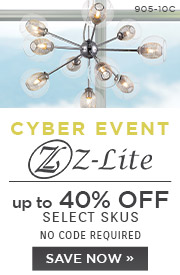 Cyber Event | Z-Lite | up to 40% Off Select Skus | No Code Required | Save Now