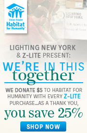 Z-Lite | Habitat for Humanity | 20% Off the Entire Line