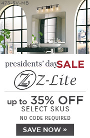 Presidents' Day Sale | Z-Lite Lighting | up to 35% Off Select Skus | No Code Required | Save Now