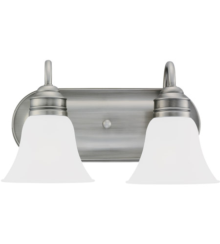 41ELIZABETH 40368-ABSE Adger 2 Light 15 inch Antique Brushed Nickel Bath Vanity Wall Light in Satin Etched Glass
