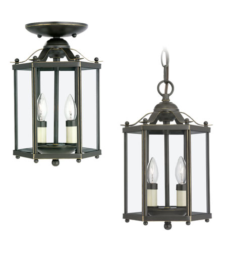 41ELIZABETH 40494-HB April 2 Light 7 inch Heirloom Bronze Pendant Convertible Ceiling Light