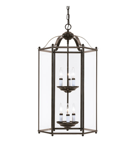 41ELIZABETH 41053-HBCP April 6 Light 17 inch Heirloom Bronze Foyer Light Ceiling Light