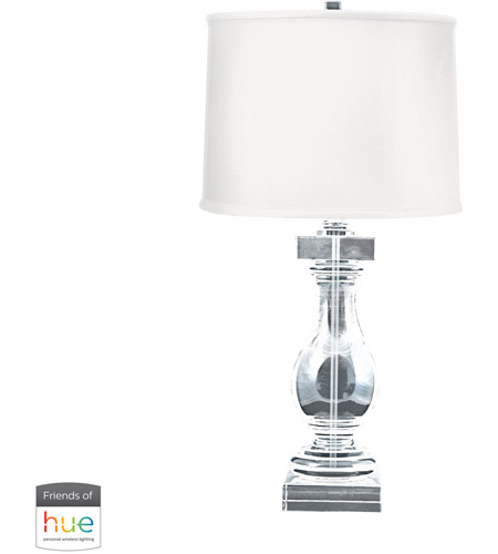 41ELIZABETH 40016-CL Amadeus 28 inch 60 watt Clear Table Lamp Portable Light in Dimmer, Hue LED, Philips Friends of Hue