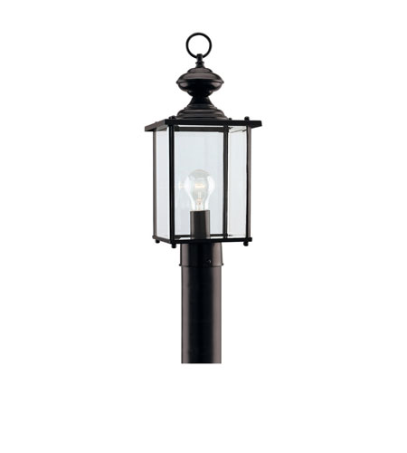 41ELIZABETH 40459-B Aquila 1 Light 17 inch Black Outdoor Post Lantern