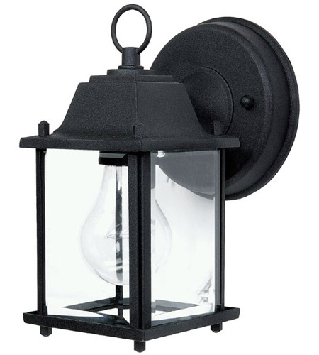 41ELIZABETH 46618-BCG Booker 1 Light 8 inch Black Outdoor Wall Lantern