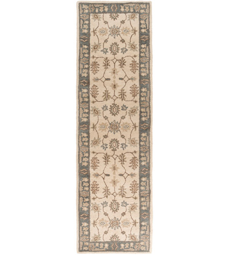 41ELIZABETH 48625-KB Arlo 168 X 27 inch Khaki/Teal/Tan/Dark Brown/Sea Foam Rugs, Runner