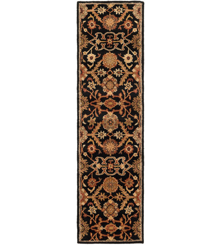 41ELIZABETH 48764-B Arlo 72 X 48 inch Black/Rust/Olive/Camel/Tan/Sage Rugs, Rectangle
