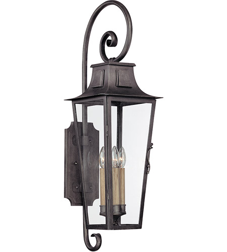 41ELIZABETH 42804-AP Bancroft 4 Light 35 inch Aged Pewter Outdoor Wall Lantern in Incandescent