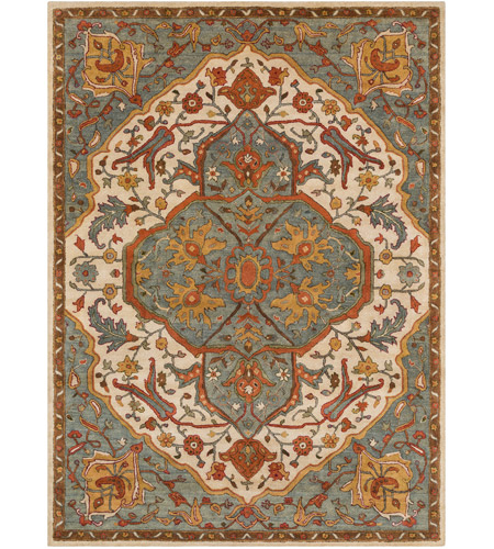 41ELIZABETH 42279-GG Beverly 132 X 96 inch Green and Gray Area Rug, Wool
