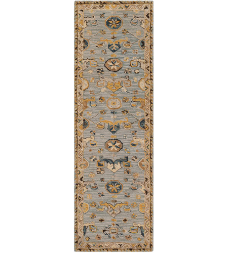 41ELIZABETH 47820-DG Aemilius 96 X 30 inch Denim/Light Gray/Dark Blue/Dark Brown/Tan/Camel Rugs