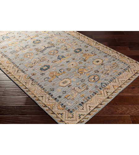 41ELIZABETH 47820-DG Aemilius 96 X 30 inch Denim/Light Gray/Dark Blue/Dark Brown/Tan/Camel Rugs aes2307_corner.jpg