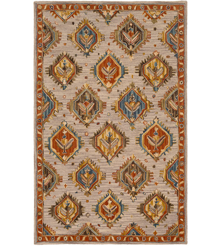 41ELIZABETH 47841-RB Aemilius 96 X 30 inch Rust/Coral/Mustard/Dark Blue/Denim/Light Gray Rugs
