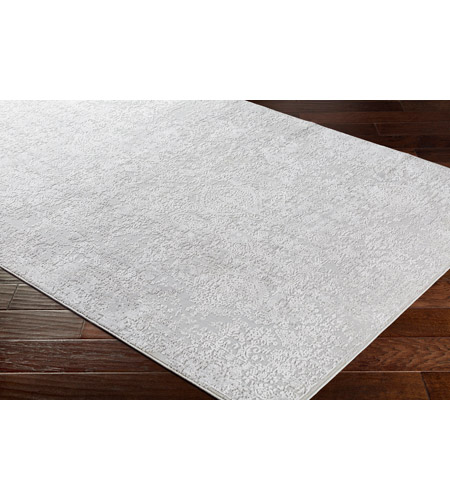 41ELIZABETH 48022-LG Ainsley 180 X 144 inch Light Gray/White Rugs ais2306_corner.jpg