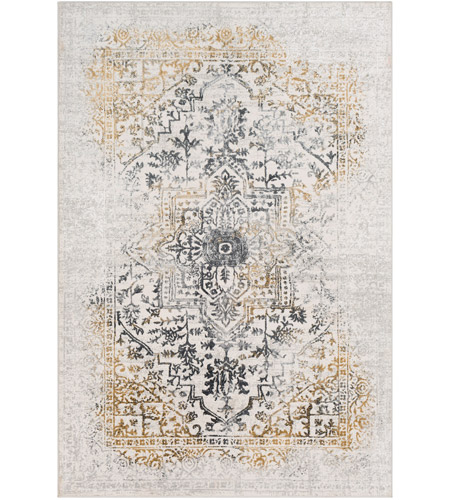 41ELIZABETH 48045-CG Ainsley 91 X 31 inch Charcoal/Medium Gray/Mustard/Light Gray Rugs, Runner