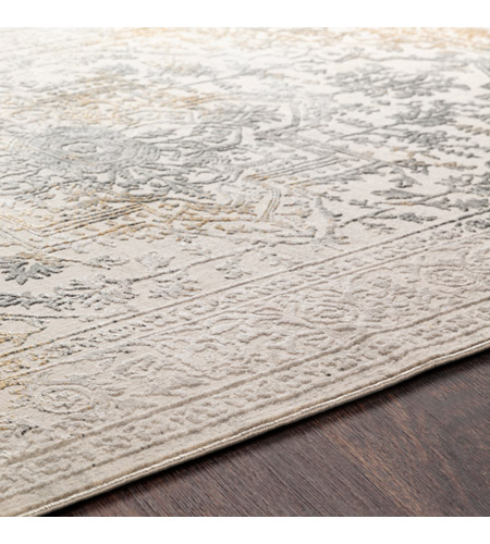 41ELIZABETH 48045-CG Ainsley 91 X 31 inch Charcoal/Medium Gray/Mustard/Light Gray Rugs, Runner ais2308-texture.jpg