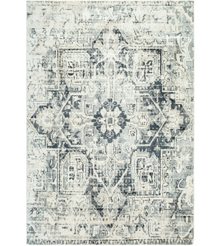 41ELIZABETH 48233-LG Acton 90 X 63 inch Light Gray/Medium Gray/White/Cream Rugs, Rectangle