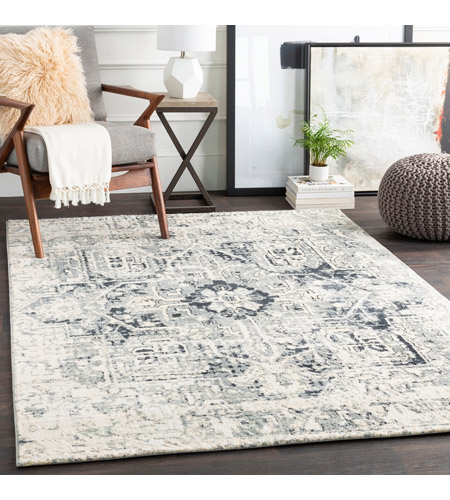 41ELIZABETH 48233-LG Acton 90 X 63 inch Light Gray/Medium Gray/White/Cream Rugs, Rectangle apy1015-roomscene_201.jpg