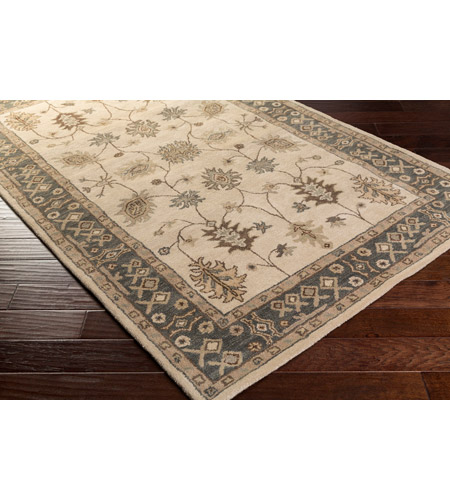 41ELIZABETH 48629-KB Arlo 72 X 48 inch Khaki/Teal/Tan/Dark Brown/Sea Foam Rugs, Rectangle awhr2050_corner.jpg