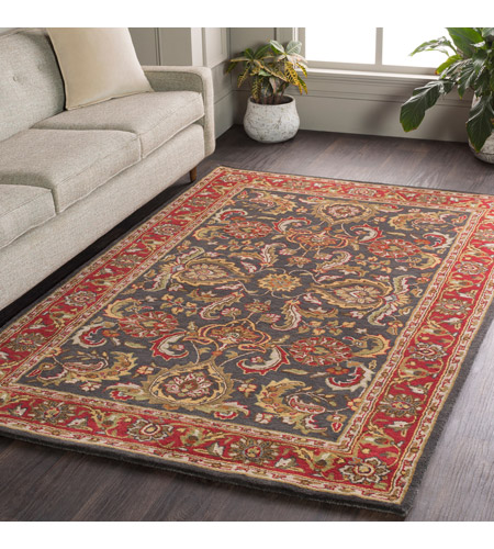41ELIZABETH 48673-BR Arlo 42 X 42 inch Bright Red/Charcoal/Mustard/Dark Brown/Olive/Tan Rugs, Round awhy2061-roomscene_201.jpg