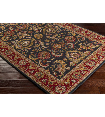 41ELIZABETH 48681-BR Arlo 156 X 108 inch Bright Red/Charcoal/Mustard/Dark Brown/Olive/Tan Rugs, Rectangle awhy2061_corner.jpg