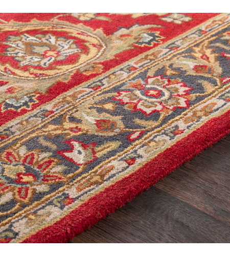 41ELIZABETH 48685-BR Arlo 168 X 27 inch Bright Red/Charcoal/Mustard/Dark Brown/Olive/Tan Rugs, Runner awhy2062-texture.jpg