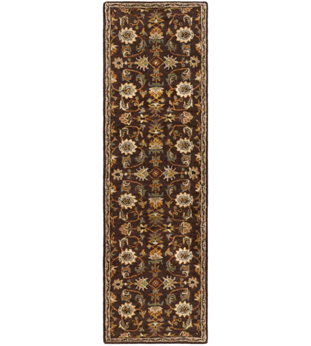 41ELIZABETH 48741-DB Arlo 156 X 108 inch Dark Brown/Camel/Ivory/Olive/Teal/Mustard Rugs, Rectangle