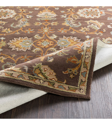 41ELIZABETH 48741-DB Arlo 156 X 108 inch Dark Brown/Camel/Ivory/Olive/Teal/Mustard Rugs, Rectangle awmd1002-fold.jpg