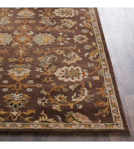 41ELIZABETH 48741-DB Arlo 156 X 108 inch Dark Brown/Camel/Ivory/Olive/Teal/Mustard Rugs, Rectangle awmd1002-front.jpg