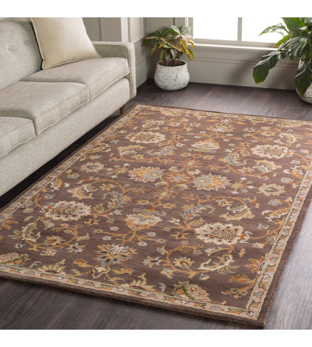 41ELIZABETH 48741-DB Arlo 156 X 108 inch Dark Brown/Camel/Ivory/Olive/Teal/Mustard Rugs, Rectangle awmd1002-roomscene_201.jpg