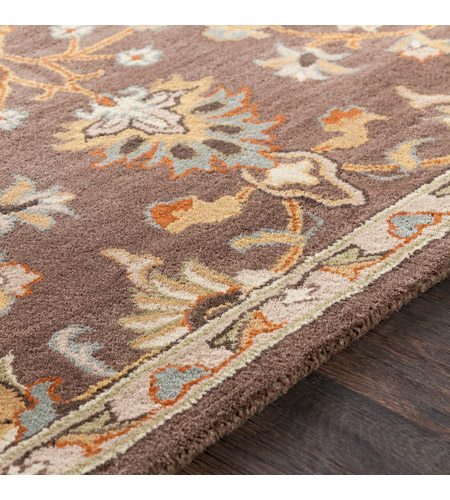 41ELIZABETH 48741-DB Arlo 156 X 108 inch Dark Brown/Camel/Ivory/Olive/Teal/Mustard Rugs, Rectangle awmd1002-texture.jpg