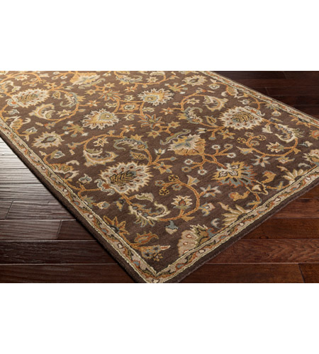 41ELIZABETH 48741-DB Arlo 156 X 108 inch Dark Brown/Camel/Ivory/Olive/Teal/Mustard Rugs, Rectangle awmd1002_corner.jpg