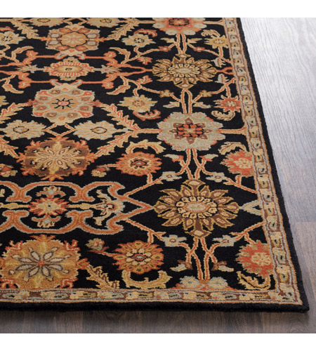 41ELIZABETH 48764-B Arlo 72 X 48 inch Black/Rust/Olive/Camel/Tan/Sage Rugs, Rectangle awmd2073-front.jpg