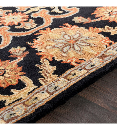 41ELIZABETH 48764-B Arlo 72 X 48 inch Black/Rust/Olive/Camel/Tan/Sage Rugs, Rectangle awmd2073-texture.jpg